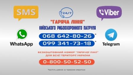 З початку року на «гарячу лінію» Київського рибоохоронного патруля надійшло 621 звернення